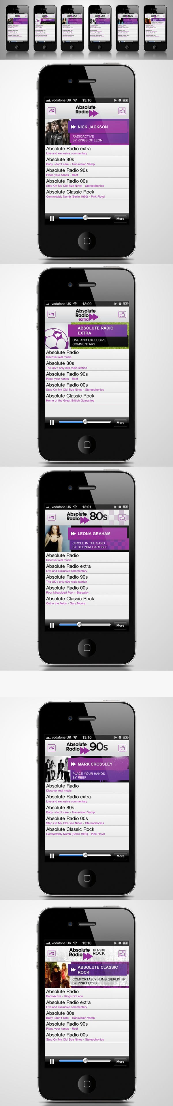 radio player android mobile app design