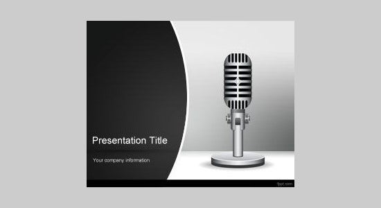 radio powerpoint template design