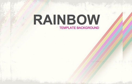 rainbow bg design powerpoint template