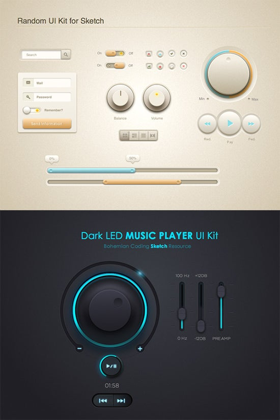 59+ UI Button Designs, Elements & Kits Collection - Free PSD