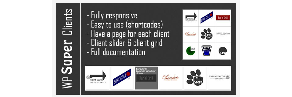 responsive client grid and slider