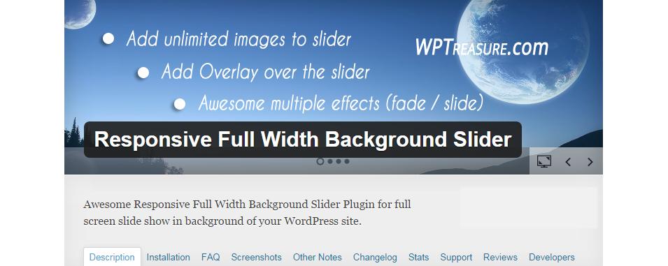 responsive full width background slider1