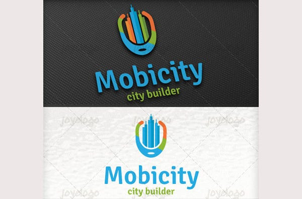 Retro Builder City Mobile Logo