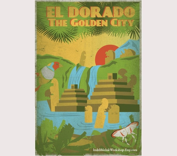 Retro El Dorado Travel Poster