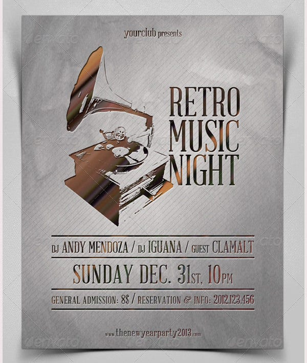 Retro Music Night / Poster
