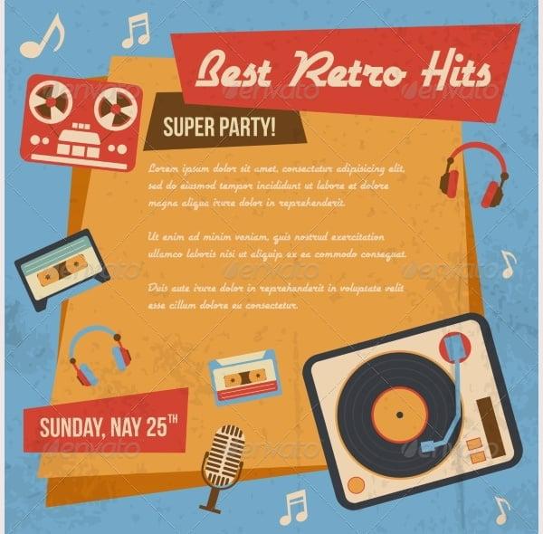 Retro Music Poster