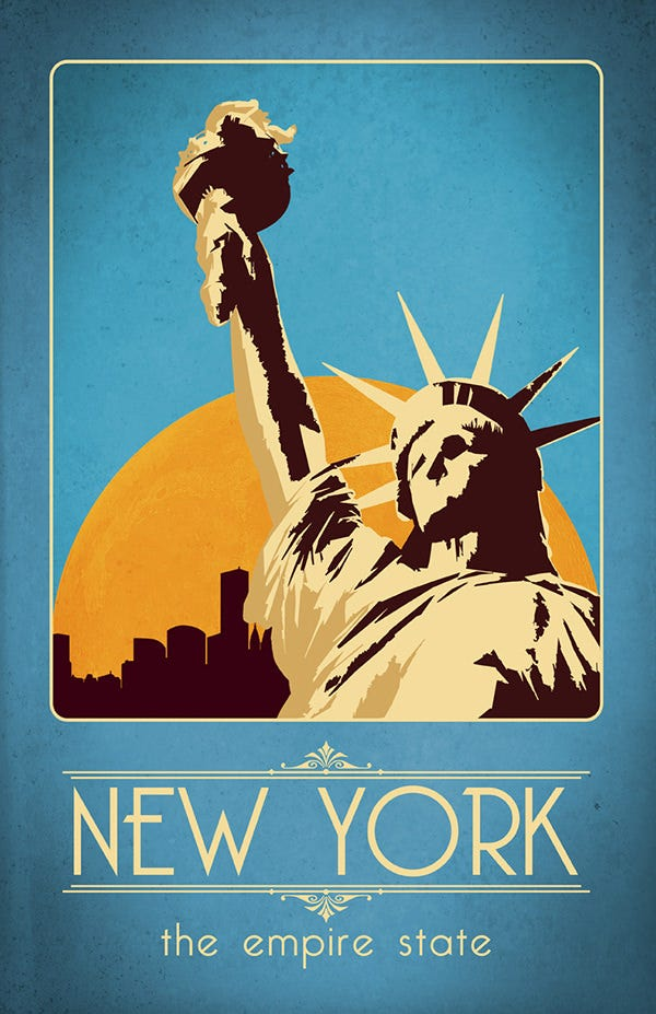 Retro New York Travel Poster