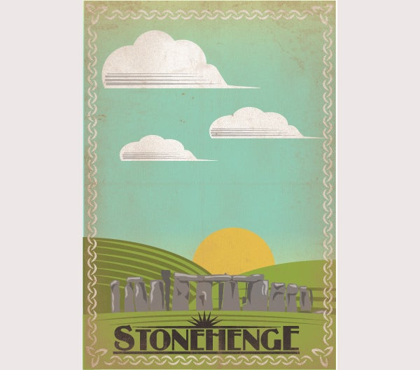 Retro Stonehenge Travel Poster