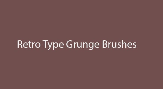 retro type grunge brushes