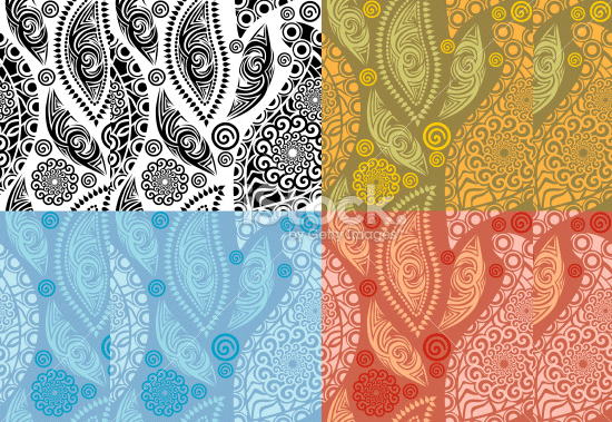 retro colorful paisley