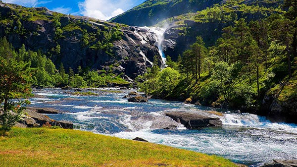 river in mountains wallpaper copy