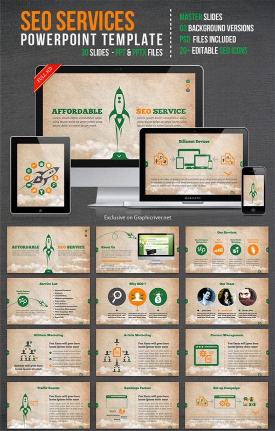 seo services ppt template