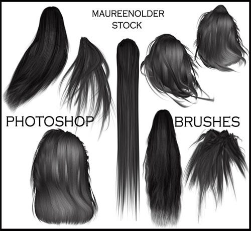 stock photoshop brushes hair