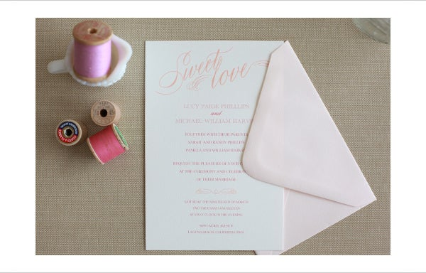 sweet love free printable wedding invitations templates