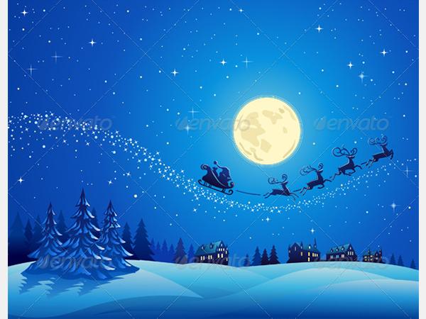 Santa Into the Winter Christmas Night 2