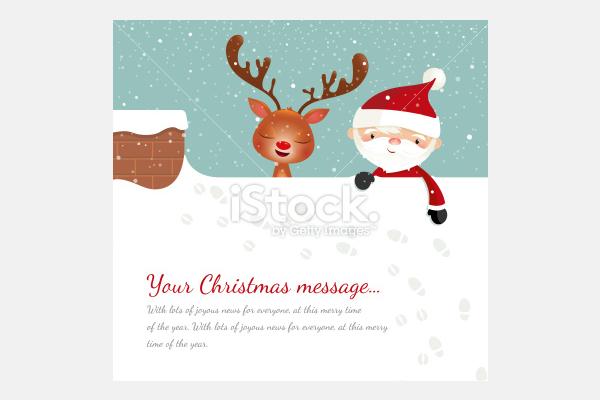 Santa on the roof - Illustration