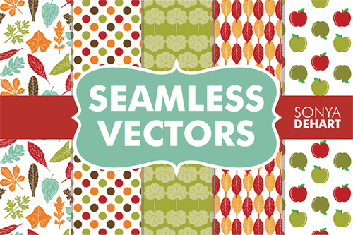 seamless fall vector