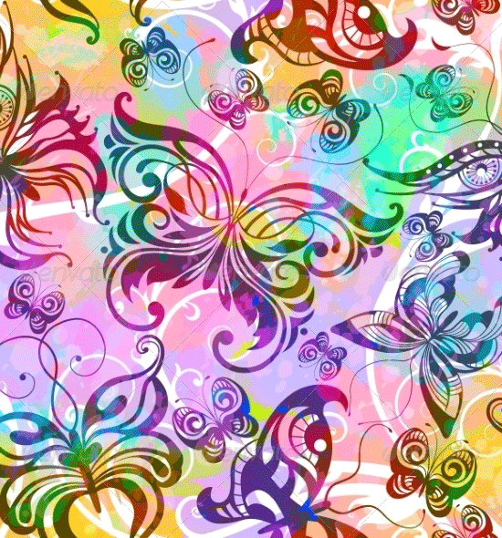 seamless pattern with butterflies1