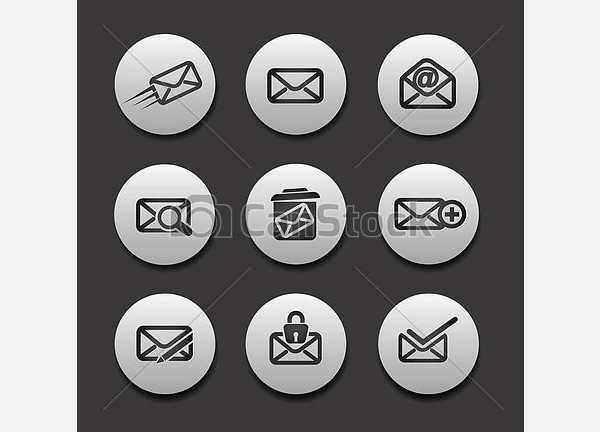 set of email icons1