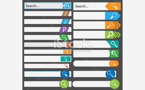 set of simple search bars