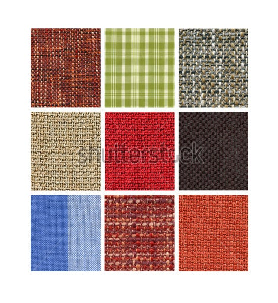 set of different fabric