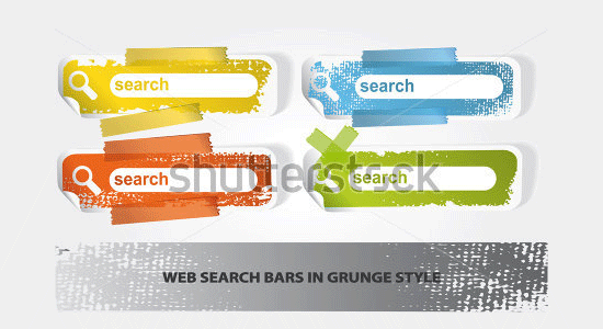 set of search banners in grunge style