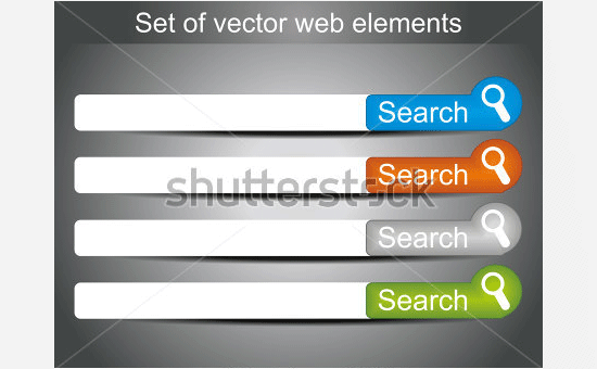 set of web search icons