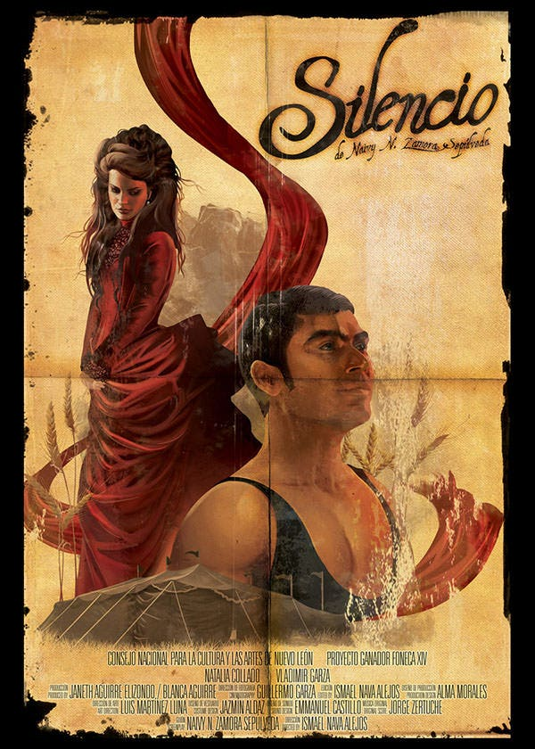 Silencio- short film poster by Diana-Martinez