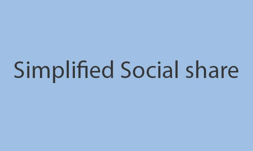 simplified social share