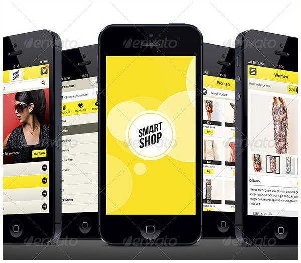 smart shop e commerce retina mobile ui