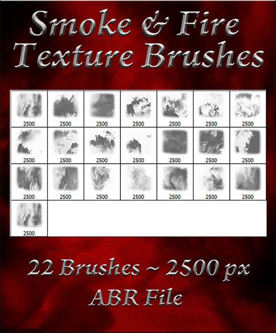 smoke fire texture brushes