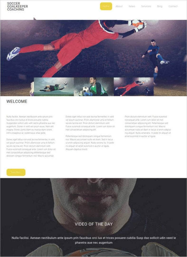 soccer website design template 788x1080