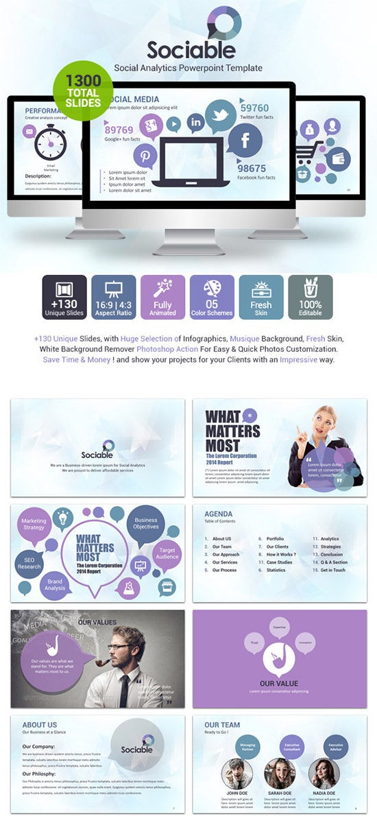 55 powerpoint presentation design templates free premium sociable powerpoint template toneelgroepblik Images
