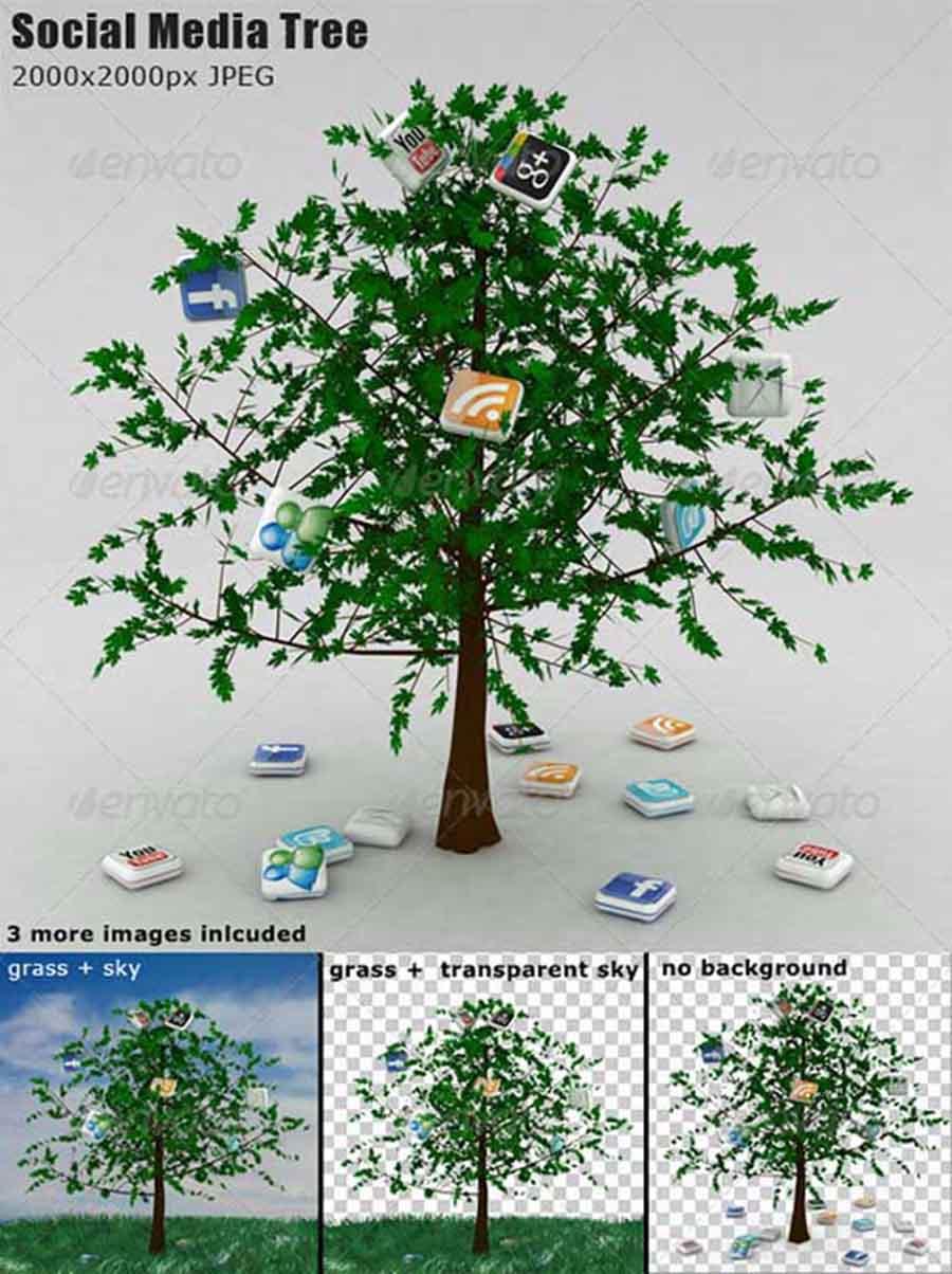 social media tree copy