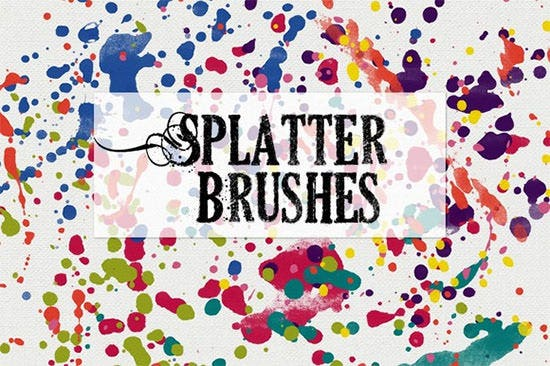 splatter photoshop brushes1