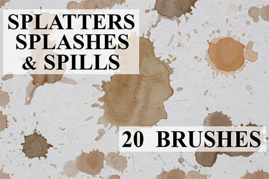 splatters splashes spills
