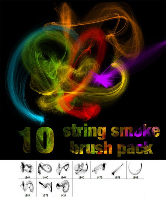string smoke brush pack