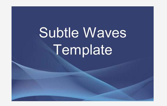 subtle waves business template