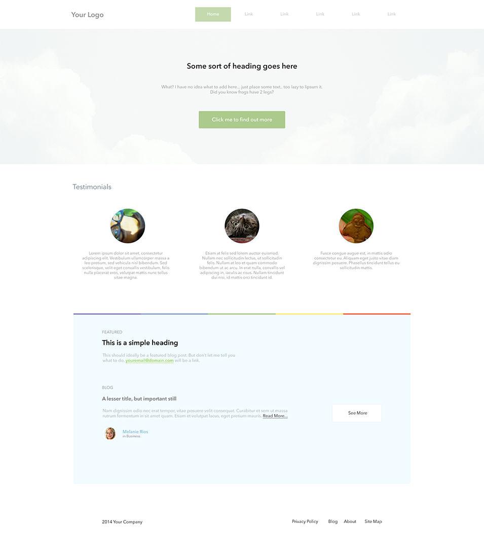super simple landing page
