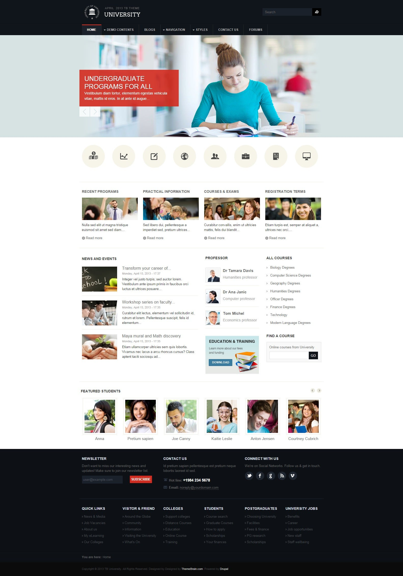 tb university education drupal theme