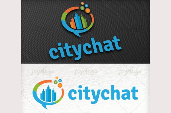 Talk Bubbles Builder City Chat Logo