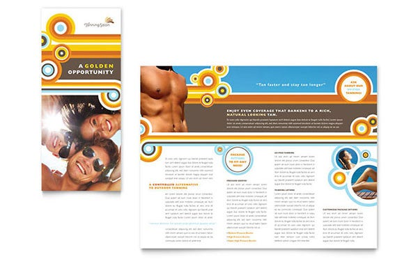 tanning salon brochure template copy