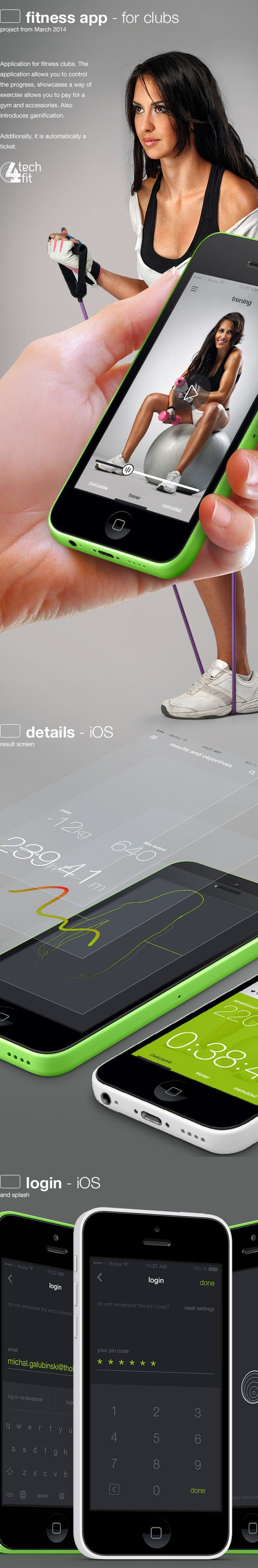 tech4fit app design