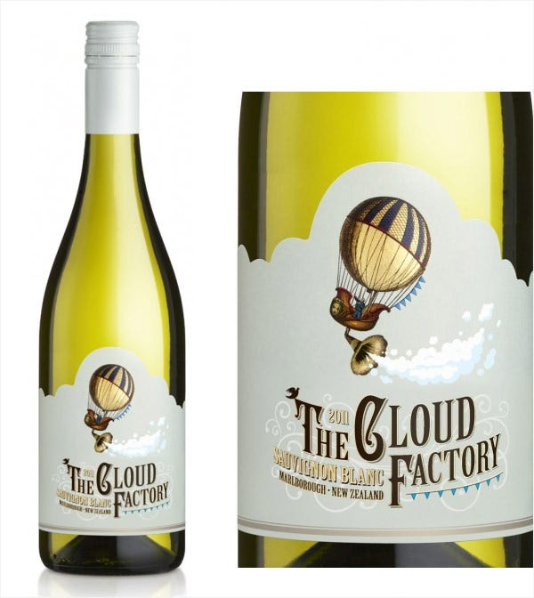 the cloud factory label design