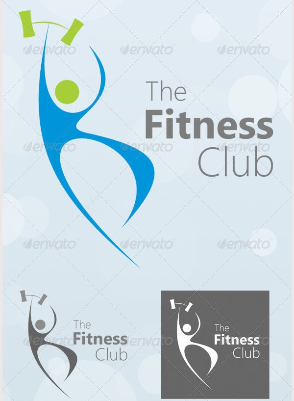 the fitness club logo template1