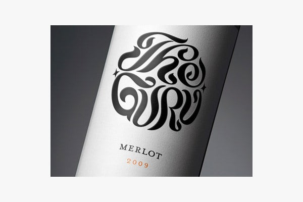 the guru wine label design