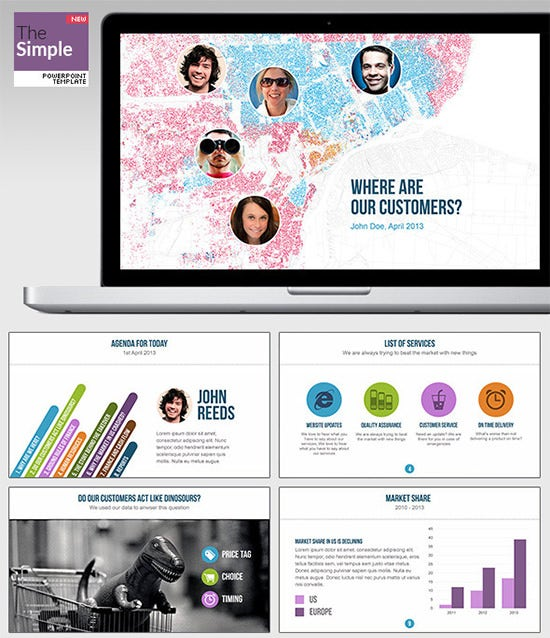thesimple powerpoint template