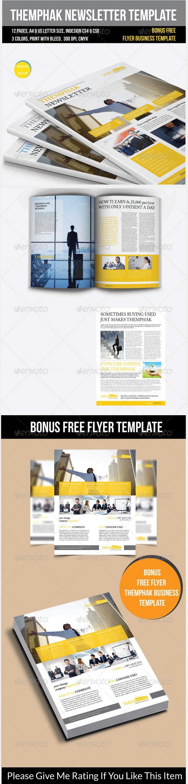 themphak newsletter template
