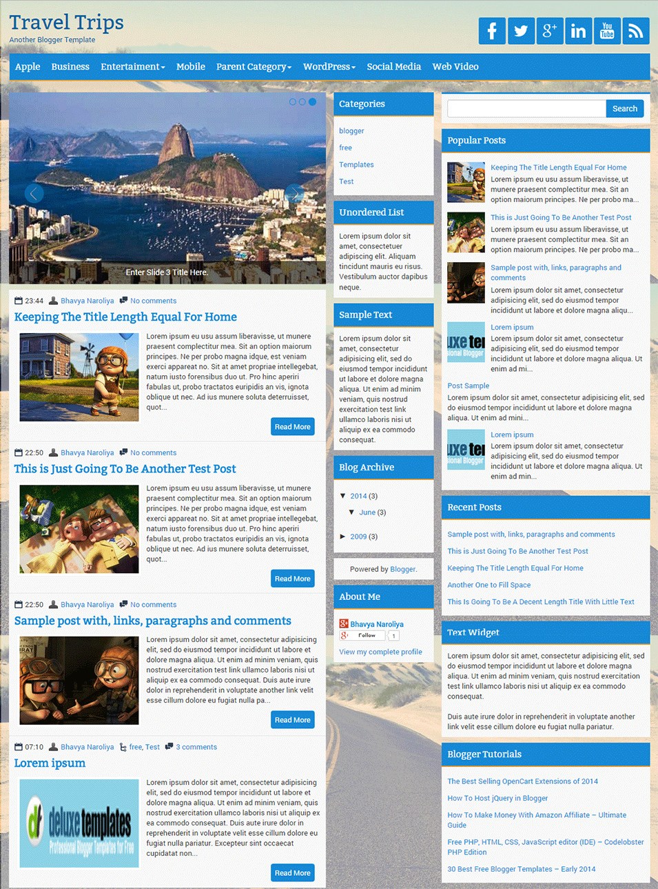 templates blogger best collection travel tourism