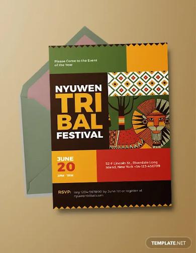 tribal invitation template